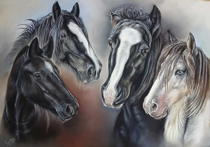 Horse Portraits by Irisha